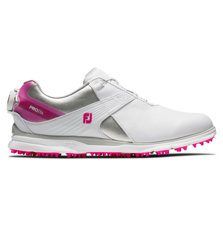 Golfskor FootJoy Pro SL Boa Dam Vit/rosa
