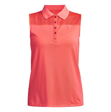 Röhnisch Golf Miko Sleeveless Poloshirt Neon Pink