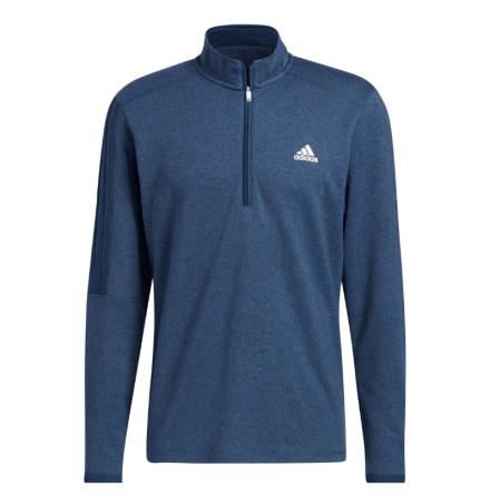 Adidas Golf 3-Stripe 1/4 Zip Golftröja Navy
