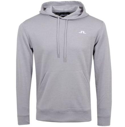 J Lindeberg Stretch Fleece Golf Hoodie Stone Grey