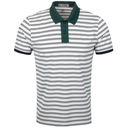G/Fore Skull Stripe Polo Green
