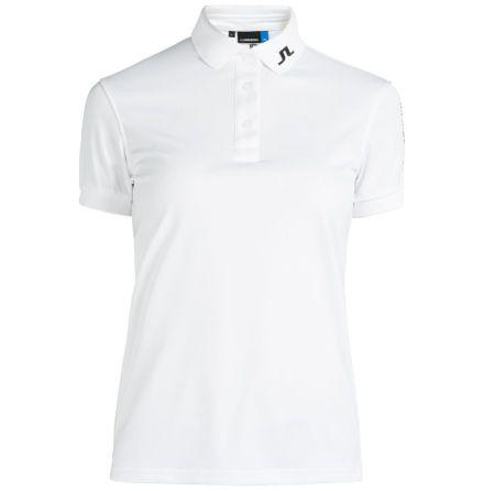 J Lindeberg Golf W Tour Tech TX Jersey White